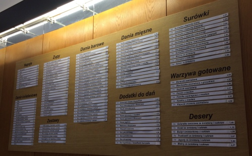 The extensive menu of Polish classics