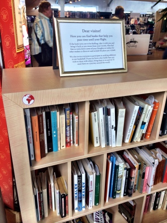 The help-yourself library at Tallinn airport