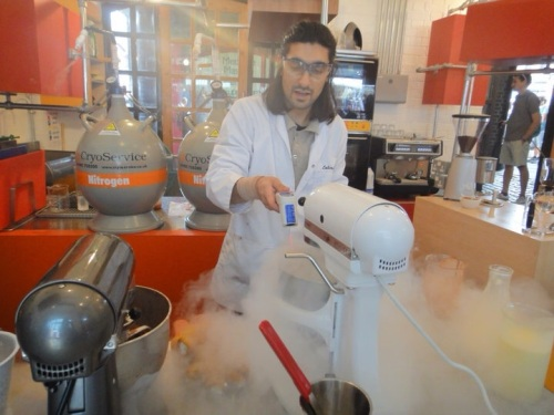 Europe's first liquid nitrogen ice cream parlour