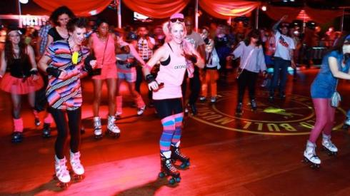 Sequins, hotpants and roller skates