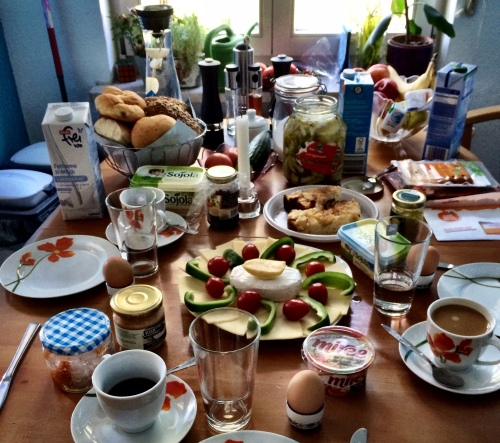 Breakfast spread in Leipzig. Where to start?!