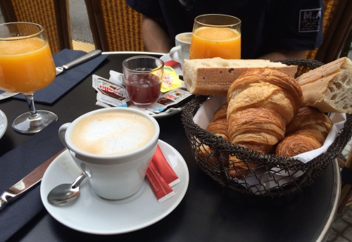 The classic French breakfast