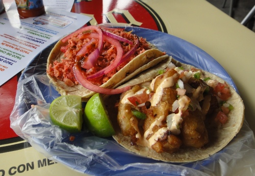 Fish tacos in Mexico City