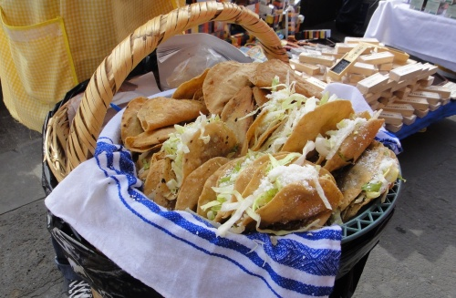 Tacos at at every street corner in Mexico City