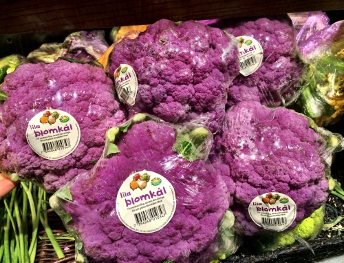 Couldn't contain my excitement at finding purple cauliflower at NK