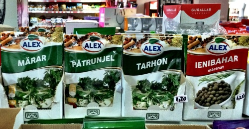 An eponymous herb range I discovered in a Romanian supermarket